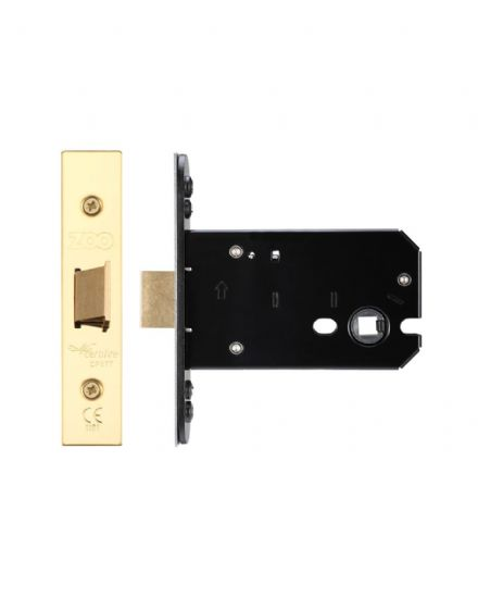 Zoo Hardware ZUKF102PVD Flat Mortice Latch 102mm PVD Brass